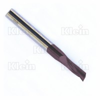 SOLID CARBIDE SPIRAL BITS UP CUT Z=1 - Z=2 LONG TYPE, KleinDIA® COATED
